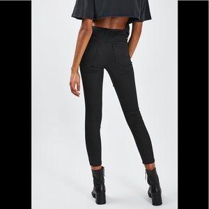 Coated black jamie jeans! Topshop